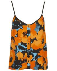 TOPSHOP   Orange Poppy Print Cami   Lyst
