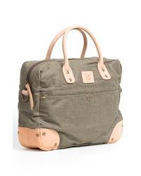 Will Leather Goods | Green Canvas Flight Bag for Men | Lyst