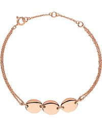 Links of London | Pink Grace Rose Vermeil 3 Station Bracelet | Lyst
