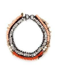 Venna | Orange Star Charm Spike Collar Necklace | Lyst
