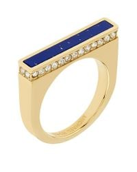 Michael Kors | Blue Lapis Stone Bar Ring | Lyst