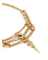 Ela Stone | Metallic 'pamela' Multi Chain Spike Necklace | Lyst