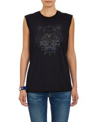 "KENZO - Black Tiger Head"" Muscle T-Shirt - Lyst"