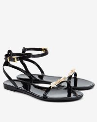 0e9a5825222f Ted Baker Jelly Sandals in Black - Lyst