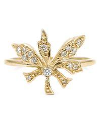 Carbon & Hyde   Metallic 'Poison Ivy' Diamond Ring   Lyst
