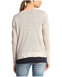BOSS Orange - Gray Cardigan: 'wednesday' In Linen And Viscose - Lyst