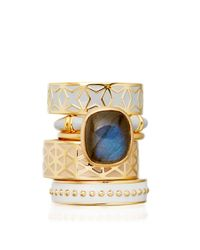 Astley Clarke | Metallic Sea Shell Bamboo Ring | Lyst