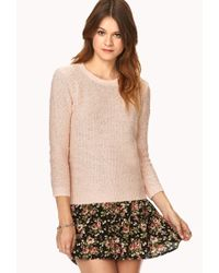 Forever 21 - Pink Cozy Bouclé Sweater - Lyst