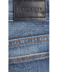 Burberry - Blue River Wash Relaxed Fit Jeans - Lyst