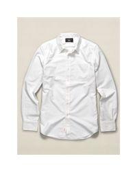 RRL - White Cotton Oxford Shirt for Men - Lyst