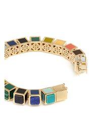 Eddie Borgo | Multicolor Inlaid Small Cube Bracelet | Lyst