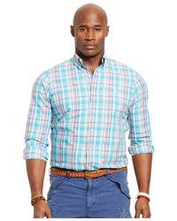 Polo Ralph Lauren   Blue Big & Tall Bengal-striped Poplin Shirt for Men   Lyst