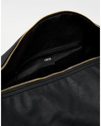 ASOS | Barrel Bag In Black With Gold Zips for Men | Lyst