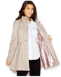 Betsey Johnson - Pink Flared Trench Coat - Lyst