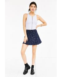 Silence + Noise - Gray Candice Zip-front Tank Top - Lyst