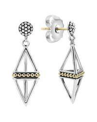 Lagos | Metallic Pyramid Drop Earrings | Lyst