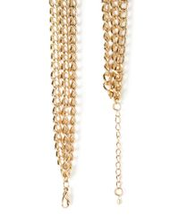 Forever 21 - Metallic Layered Faux Turquoise Necklace - Lyst