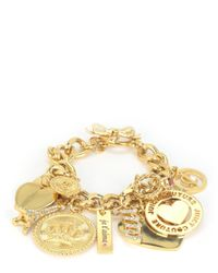Juicy Couture | Metallic J'adore Large Charm Bracelet | Lyst
