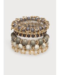 Bebe | Green Beaded Stretch Bracelet Set | Lyst