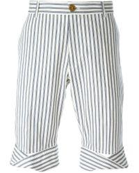 Vivienne Westwood - White Ticking Stripe Shorts for Men - Lyst