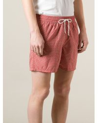 Ferragamo | Red Duck Patterned Shorts for Men | Lyst