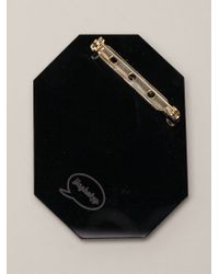 Yazbukey - Metallic Diamond Brooch - Lyst