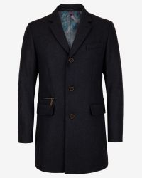 Ted Baker | Gray Textured Wool Overcoat for Men | Lyst