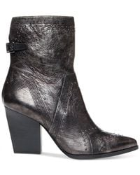 Donald J Pliner | Black Vegas Studded Booties | Lyst