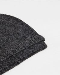 Zara | Gray Plain-colored Knit Hat for Men | Lyst
