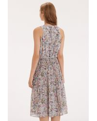 Oasis - Gray The V And A Morpeth Midi Dress - Lyst