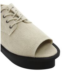 Cheap Monday - Natural Peep Toe Flatform Shoe - Lyst