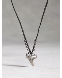 John Varvatos | Black Silver Shark Tooth Pendant for Men | Lyst