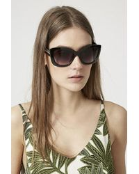 TOPSHOP - Black Catty Portugal Oversized Sunglasses - Lyst