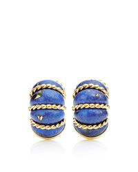 Seaman Schepps | Metallic Carved Lapis Shrimp Earrings | Lyst