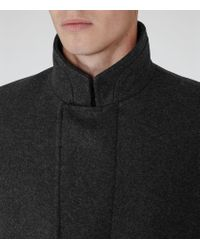 Reiss | Gray Lansky Funnel Collar Coat for Men | Lyst