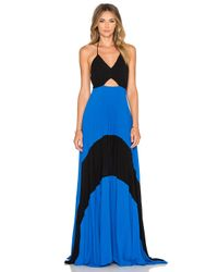 Karina Grimaldi | Blue Fabi Pleated Maxi Dress | Lyst