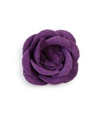 Hook + Albert | Purple Lapel Flower Pin | Lyst