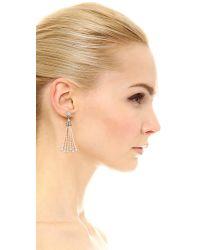Ben-Amun - Metallic Imitation Pearl Tassel Earrings - Lyst