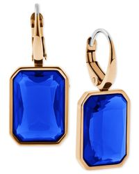 Michael Kors | Gold-tone Earrings With Blue Stones | Lyst