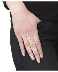 Arme De L'Amour | Metallic Set Of 2 Sphere Line Rings | Lyst