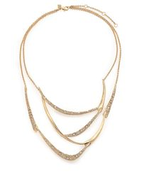 Alexis Bittar - Metallic Miss Havisham Jagged Crystal Draped Bib Necklace - Lyst
