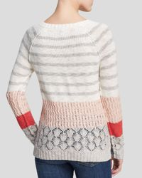 Sanctuary - Natural Mixed Knit Rugby Sweater - Lyst