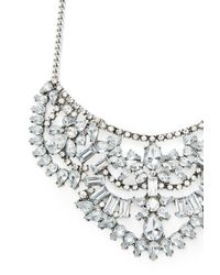 Forever 21 | Metallic Faux Gem Bib Necklace | Lyst