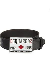 DSquared² | Black Buckled Leather Belt - For Men for Men | Lyst