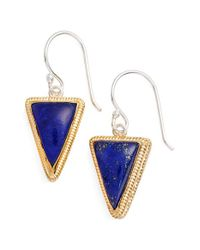 Anna Beck - Blue Triangle Stone Drop Earrings - Lyst