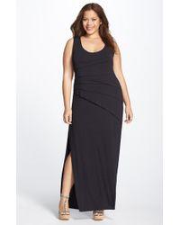 Lyssé - Black Shutter Pleat Maxi Dress - Lyst