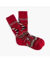 J.Crew - Red Chup Smartwool Socks for Men - Lyst