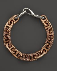 John Hardy - Metallic Men'S Classic Chain Bronze & Silver Hook Station Bracelet for Men - Lyst