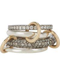 Spinelli Kilcollin - Metallic White Grey Diamond Vega Sg Pavé Ring - Lyst