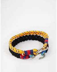 ASOS | Orange Leather Bracelet Pack In Paracord for Men | Lyst
